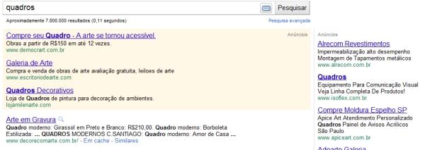 Detalhe anúncio Google
